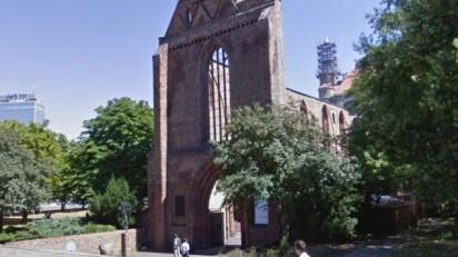 monasterio franciscano Calle Gruner, Berlín, donde se encontró el cuerpo de un hombre que se cree un israelí, de abril de 2015. (captura de pantalla Google maps)