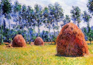 Pacas de heno, Monet. Giverny (Wikimedia Commons)