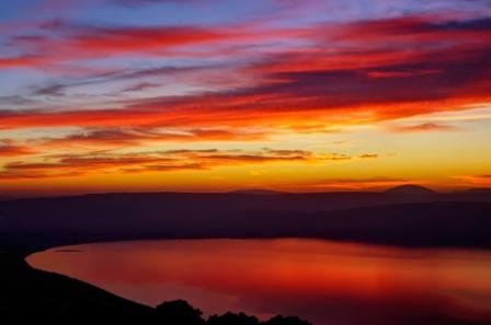 Puesta de sol en Galilea